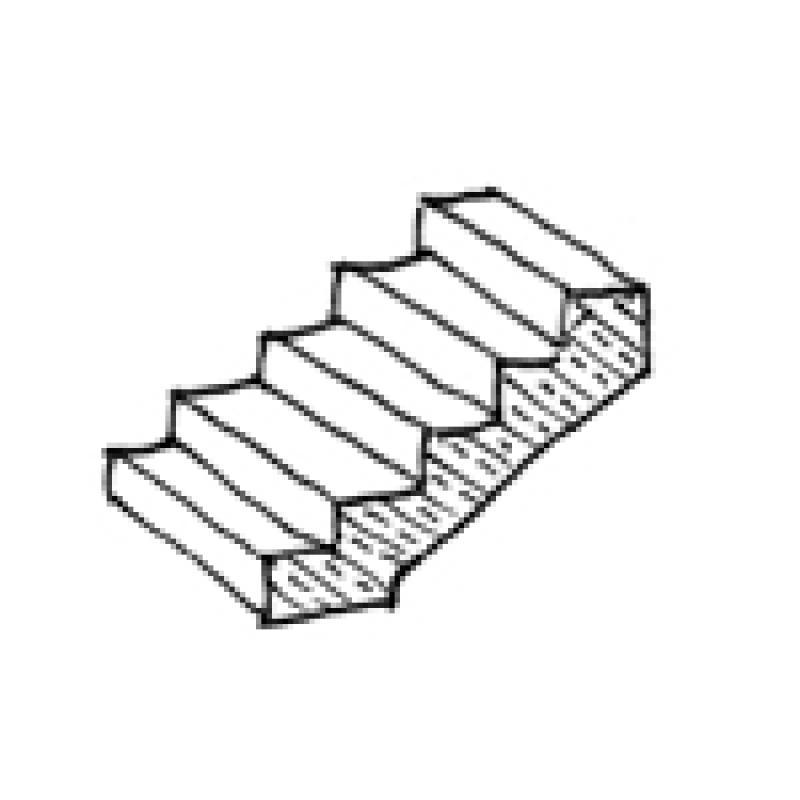 Treppe zeichnung  BIMpedia: Treppe: Ortbeton