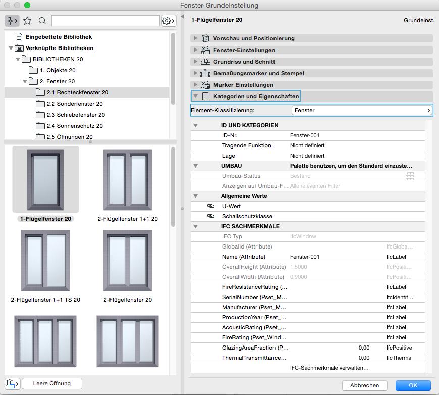 Häufig BIMpedia: Fenster BG91
